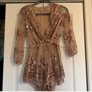 Dresses & Skirts - sequin romper and lace bodycon